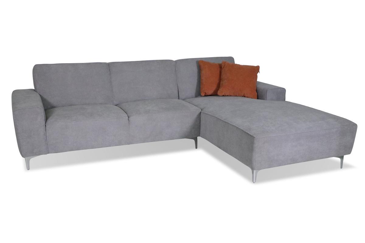 Sofa mit Longchair, Centaury grau