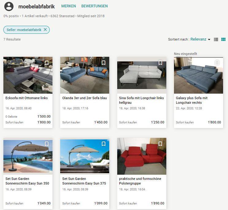Sofa günstig online Liquidationen